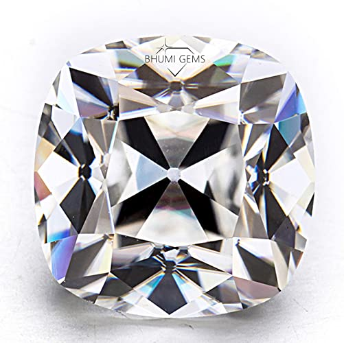 8.5x6.5 mm Cushion Cut Loose Moissanite Loose Stone Colorless Moissanite in Fancy Cut Cushion Shape Elongated Old Mine Cushion Moissanite