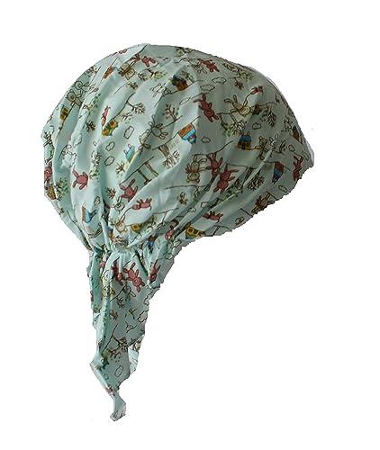 Pañuelo bandana de algodón ajustable con goma