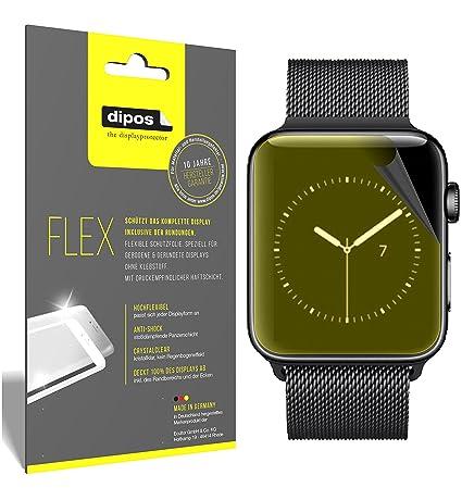 dipos I 3X Pellicola Protettiva Compatibile con Apple Watch Series 3 38mm - Rivestimento del Display al 100% - Pellicola di Protezione