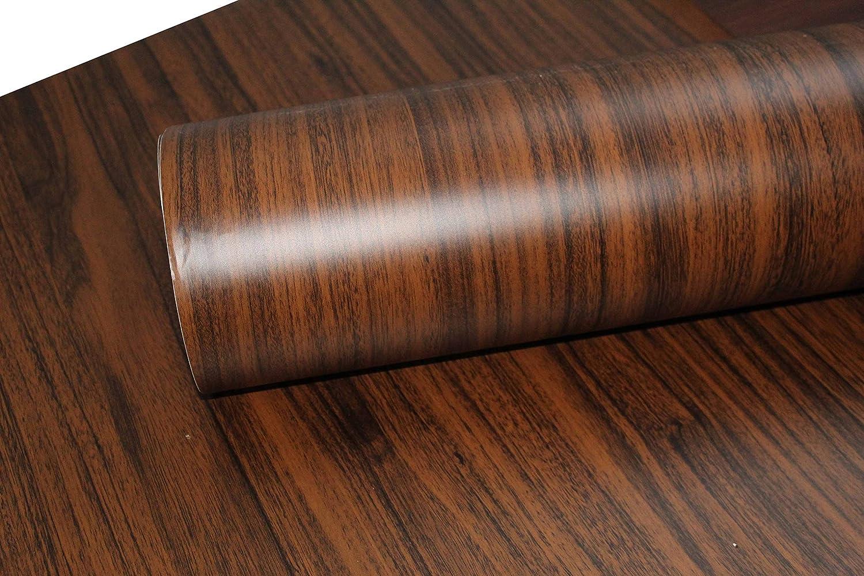 Sdenterprises Self Adhesive Wood Grain Wallpaper Vinyl Sheet Pvc Wall Papers Table Top Wooden Door Furniture Almirah Diy Renovation Projects