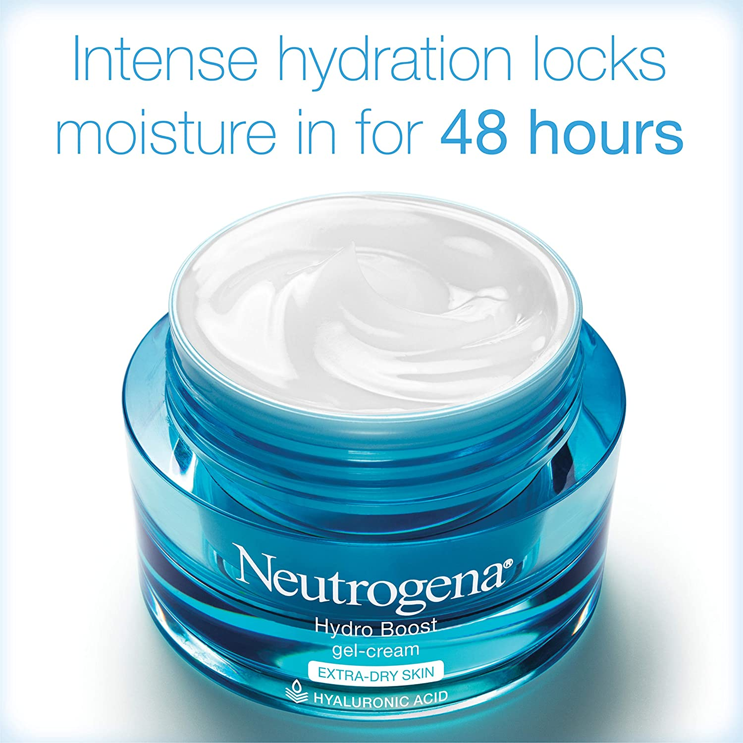 Neutrogena Hydro Boost Hyaluronic Acid Hydrating Gel-Cream Face Moisturizer to Hydrate & Smooth Extra-Dry Skin, Oil-Free, Fragrance-Free, Non-Comedogenic & Dye-Free Face Lotion, 1.7 oz: Prime Pantry