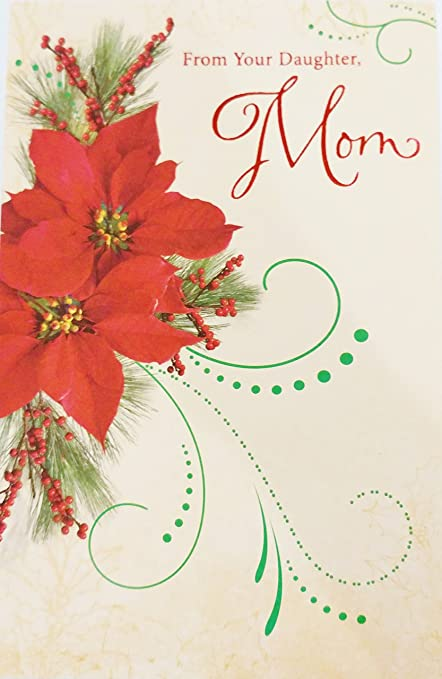 from your daughter merry christmas mom greeting card youre a