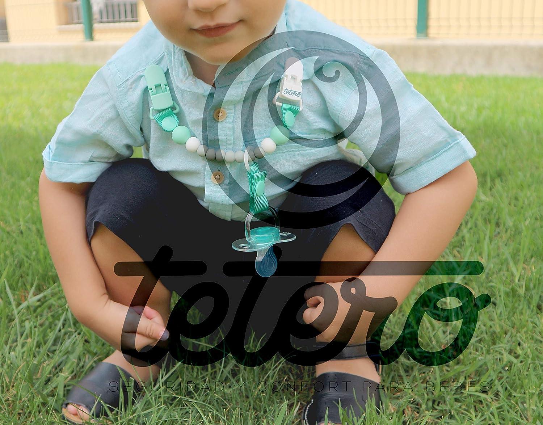 Libre de tox/ícos Tetero chupetero Baby Malva//Silicona antibacteriana Testado en laboratorio doble anclaje Innovaci/ón para mantener la chupeta limpia