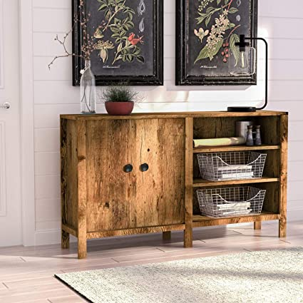 Pleasant Amazon Com Modern Console Table Storage Cabinet 2 Doors 3 Home Interior And Landscaping Mentranervesignezvosmurscom