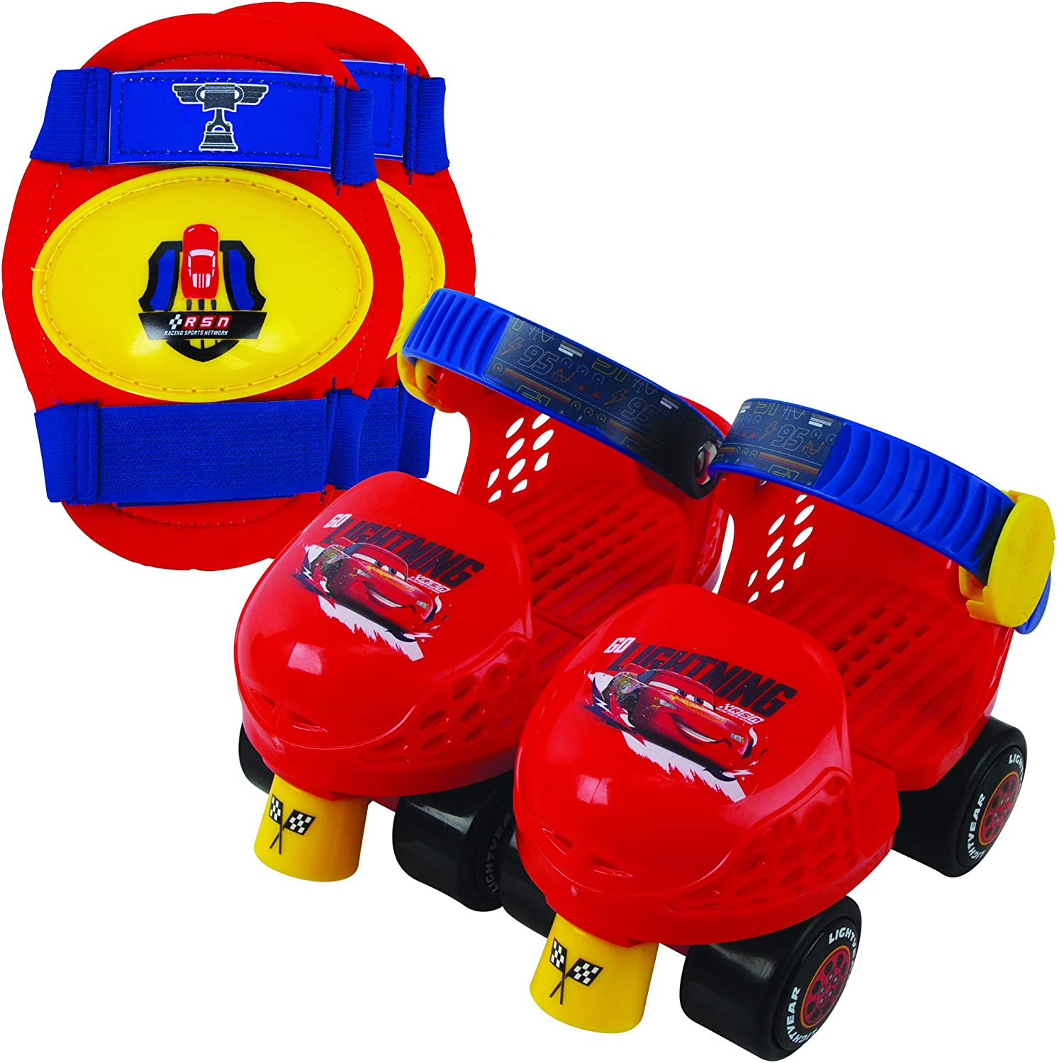 Disney Cars PlayWheels Cars Jr Skate Combo with Knee Pads