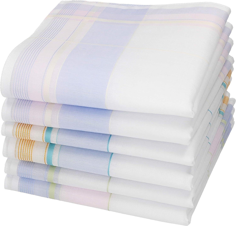 BETZ Lot de 12 mouchoirs pour femme Paloma 2 30 x 30 cm 100/% coton