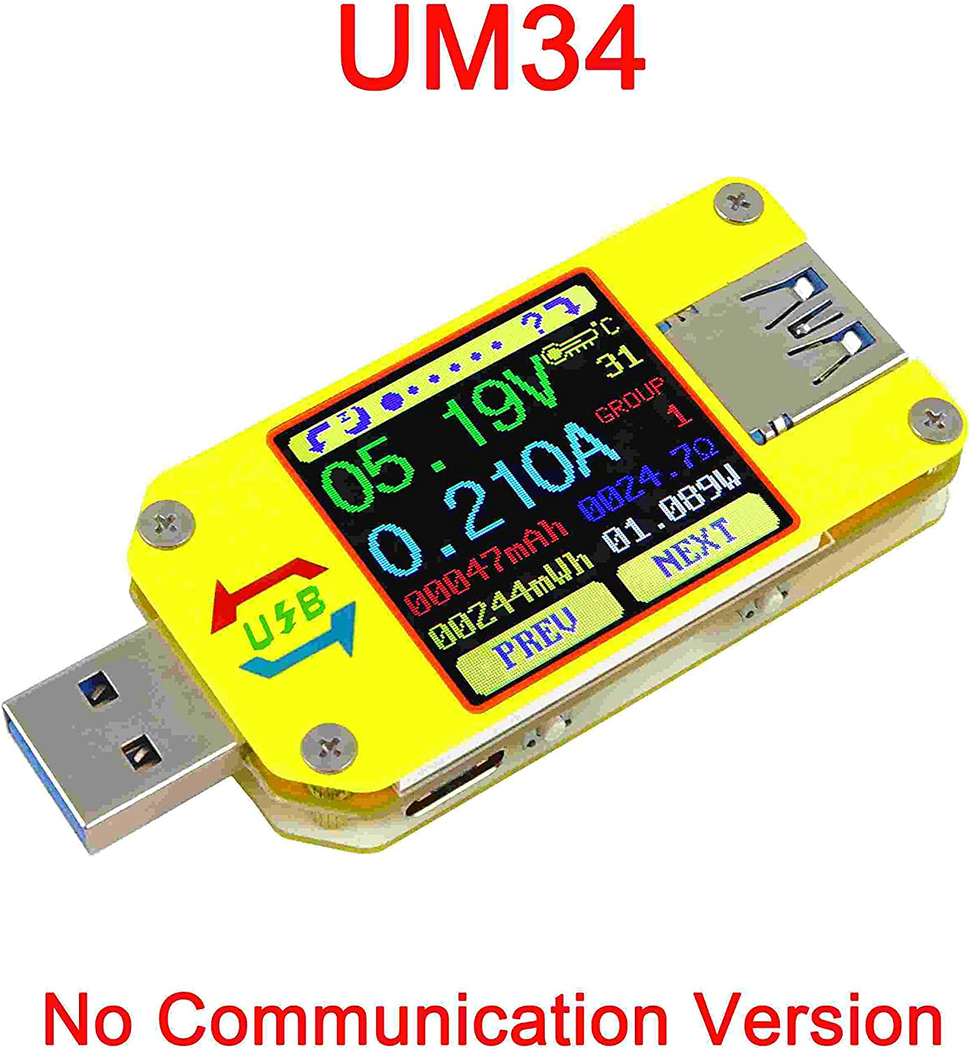 2 Usb Charger Doctor Voltage Current Meter Mobile Battery Tester Power Detect yi