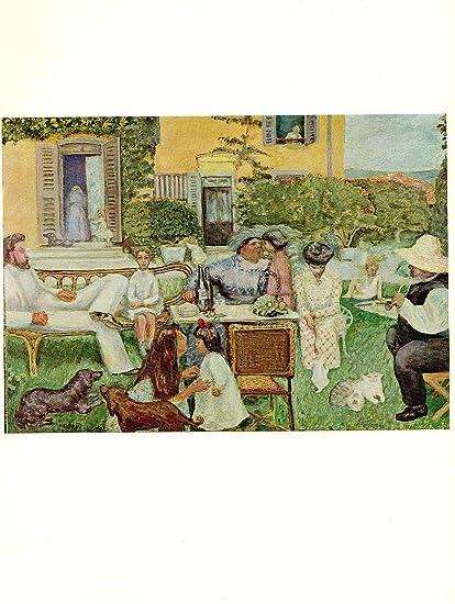 Amazon Com 1969 Vintage Bonnard The Terrasse Family Color Offset
