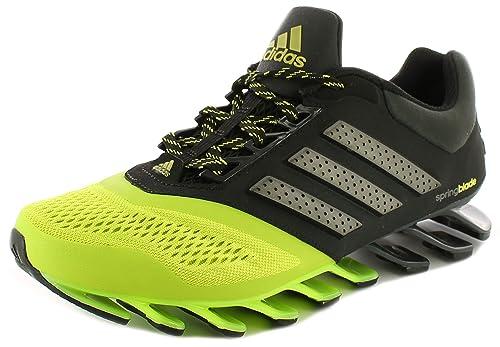 separation shoes 46e4a 32869 adidas - Sandali con Zeppa Uomo, Nero (Nero Giallo Fluo), 44