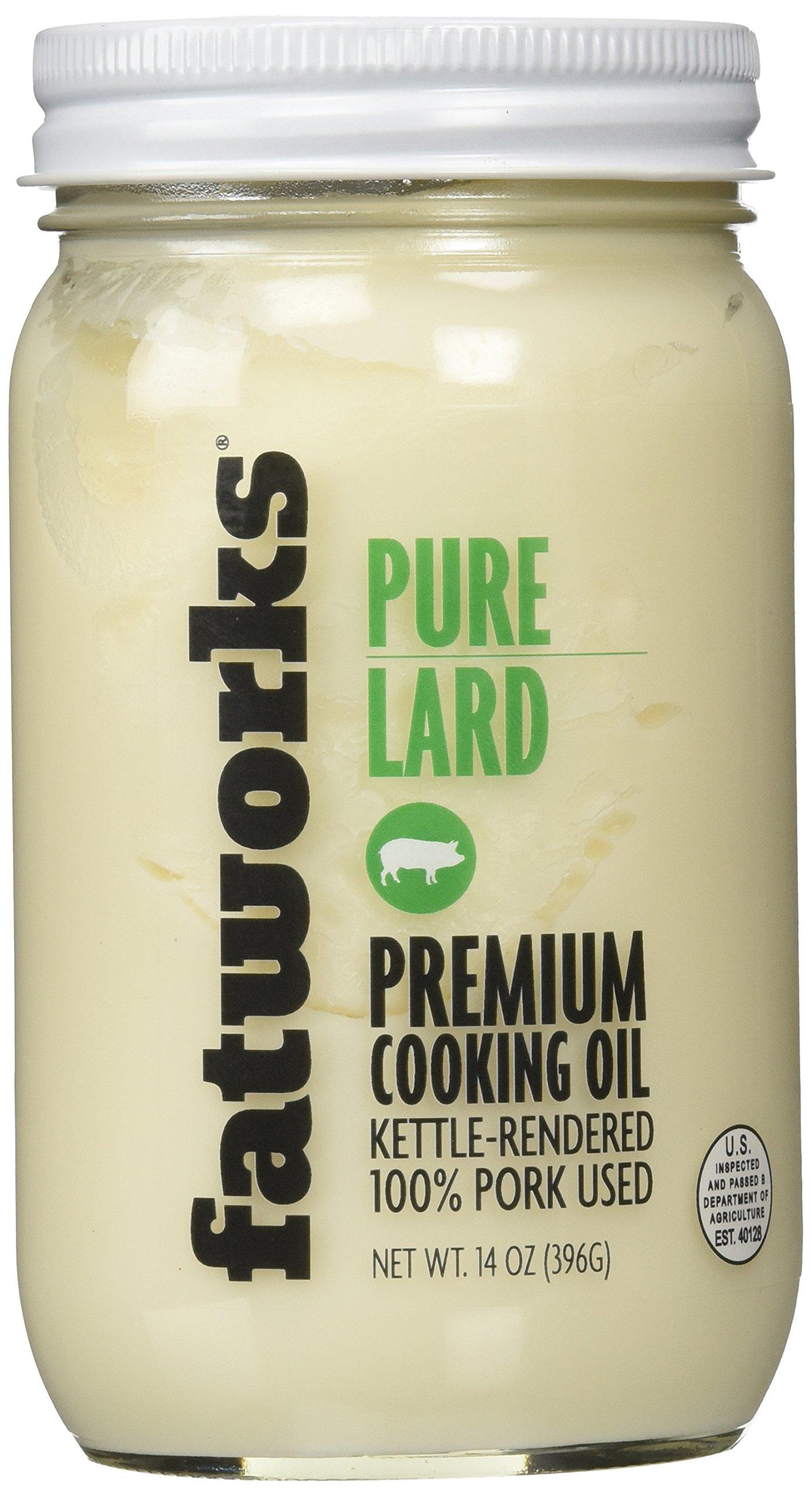 Pure Pork Lard, Free Range & Pasture Raised, 14oz (1 Jar)