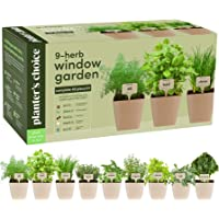 Planters 9 Herb Window Garden Indoor Organic Herb Growing Kit