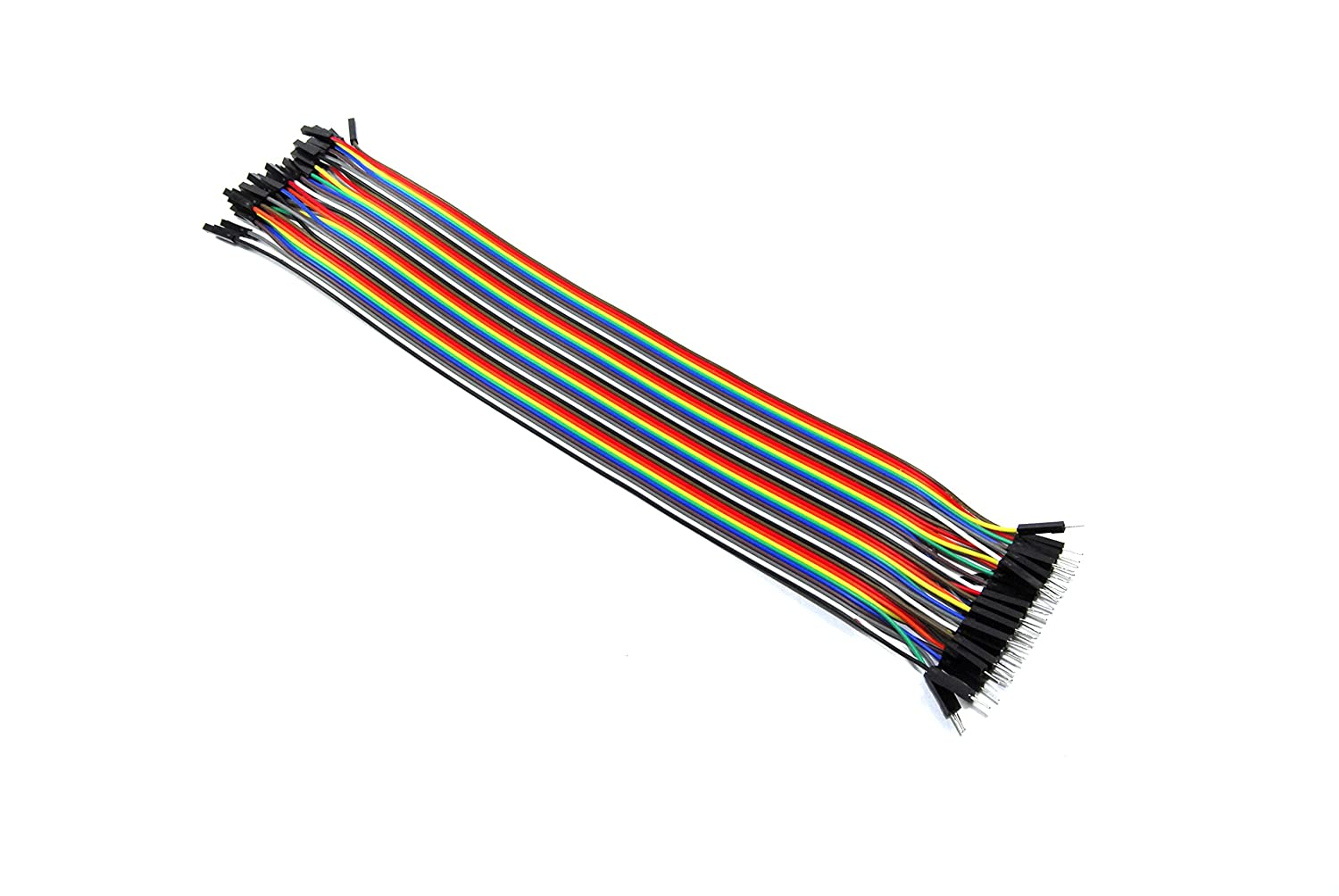 40 Male to Female Jumper Wires Solderless 30cm Ribbon Arduino Unbranded/Generic GBAA100006