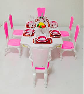 Barbie Size Dollhouse Furniture Grand Dining Room Play Set