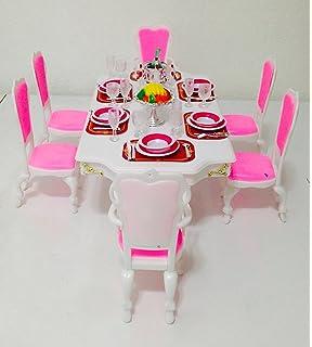 Attirant Barbie Size Dollhouse Furniture Grand Dining Room Play Set