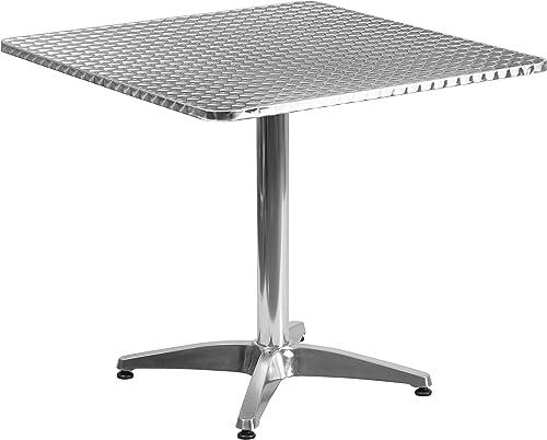 Flash Furniture 31.5'' Square Aluminum Indoor-Outdoor Table