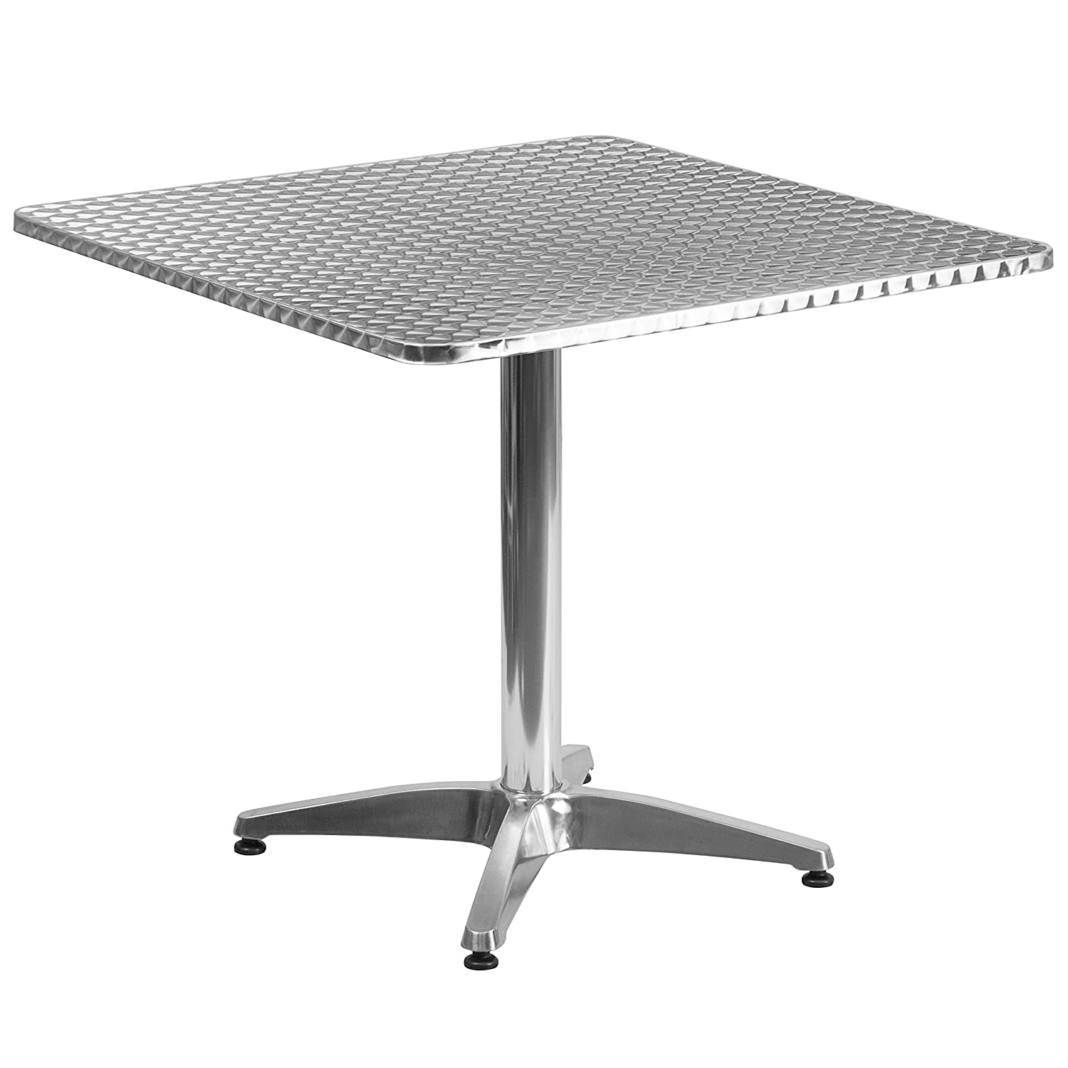 Flash Furniture 31.5'' Square Aluminum Indoor-Outdoor Table with Base - TLH-053-3-GG