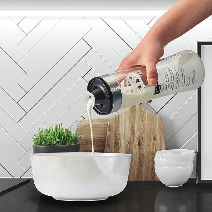 SILBERTHAL Mezclador de vinagretas, aliños, salsas y aceite | Botella de cristal con tapa 500ml | Shaker para aderezo de ensaladas y condimentos con ...