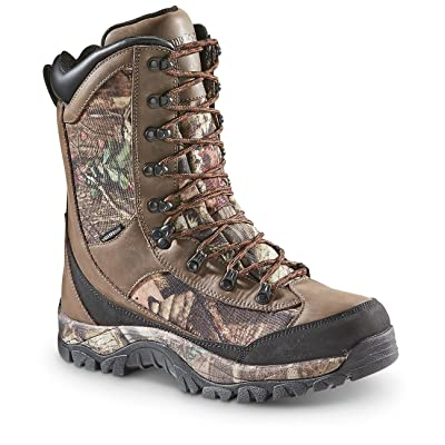 Guide Gear Men's Arctic Hunter II Insulated Waterproof Boots 2000 Grams, Mossy Oak Break-Up Country, 8D