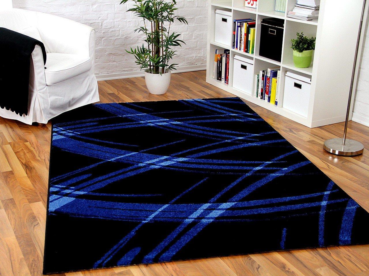 Maui Designer Teppich Schwarz Blau Life in 5 Größen