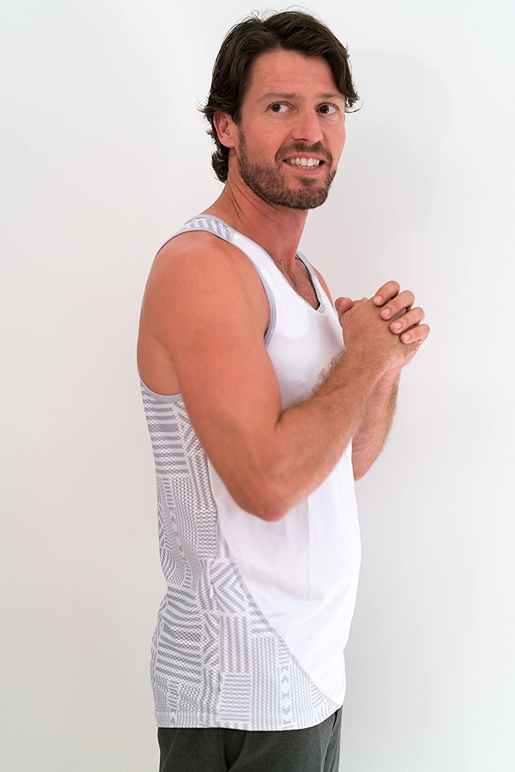 Hidden dasFlow Mens Tank Top with 5 Pockets Avail in 5 Colors//Designs Active Wear Athleisure,