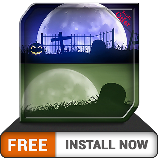 Spooky Graveyard HD - Decor your Halloween Party with Creepy Horror TV -
