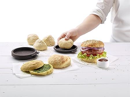 Lékué - Moldes para pan de hamburguesa pequeños, cuatro unidades: Amazon.es: Hogar