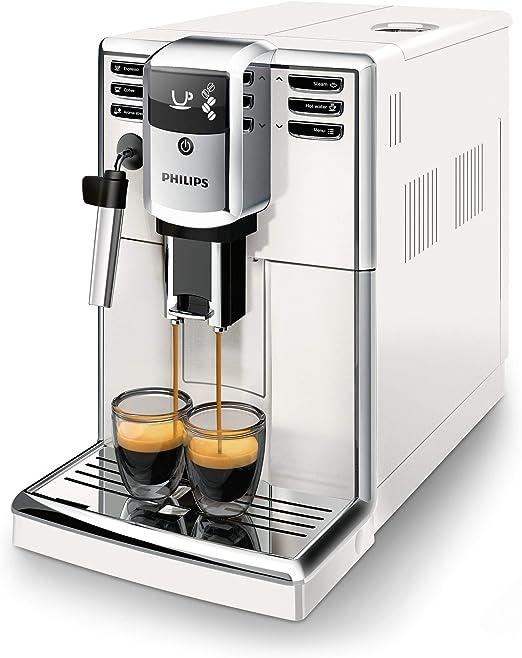 Philips 5000 series - Cafetera (Independiente, Máquina espresso, 1,8 L, Granos de café, Molinillo integrado, Blanco): Amazon.es: Hogar