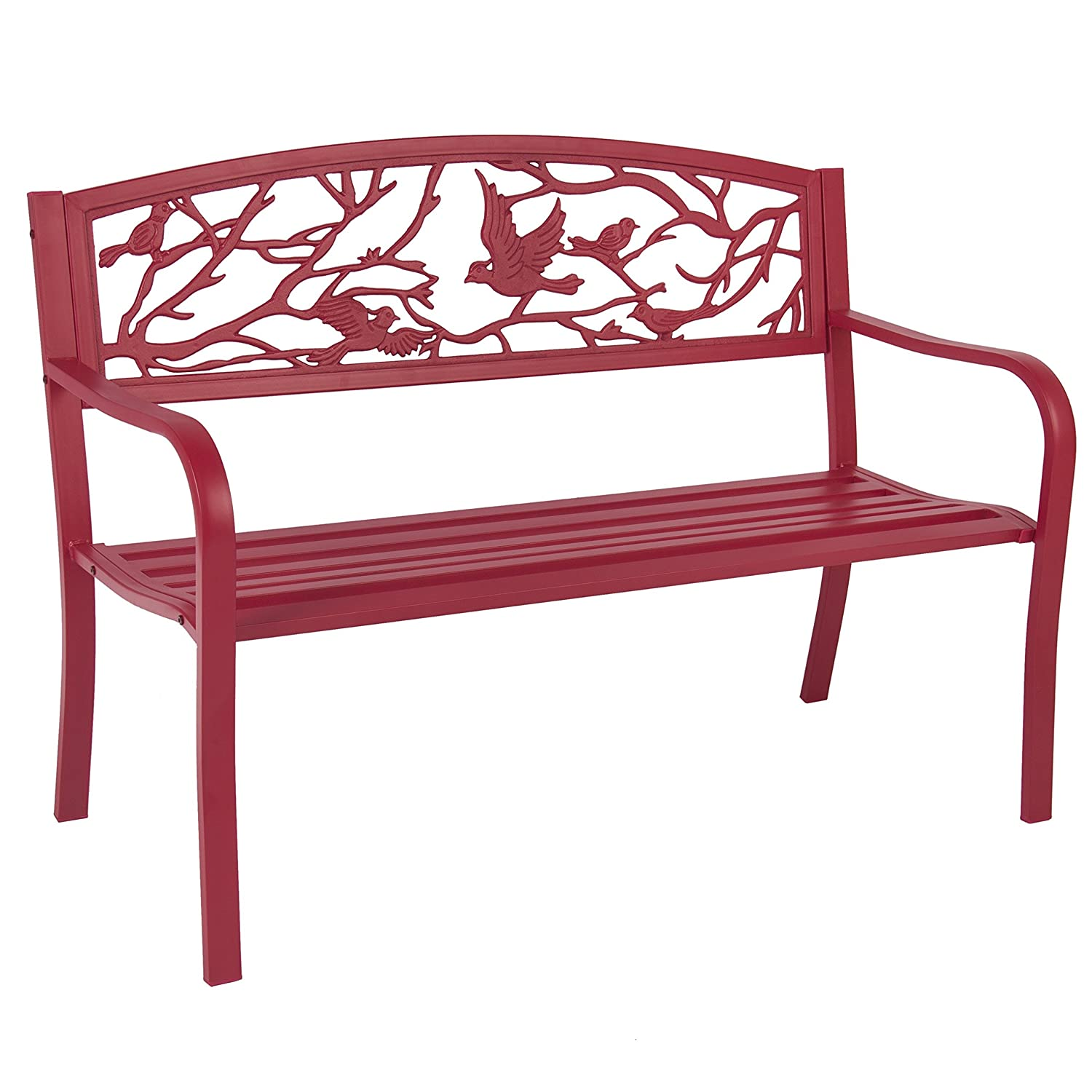 Amazon best choice products steel patio garden park bench amazon best choice products steel patio garden park bench outdoor living patio furniture rose red garden outdoor watchthetrailerfo
