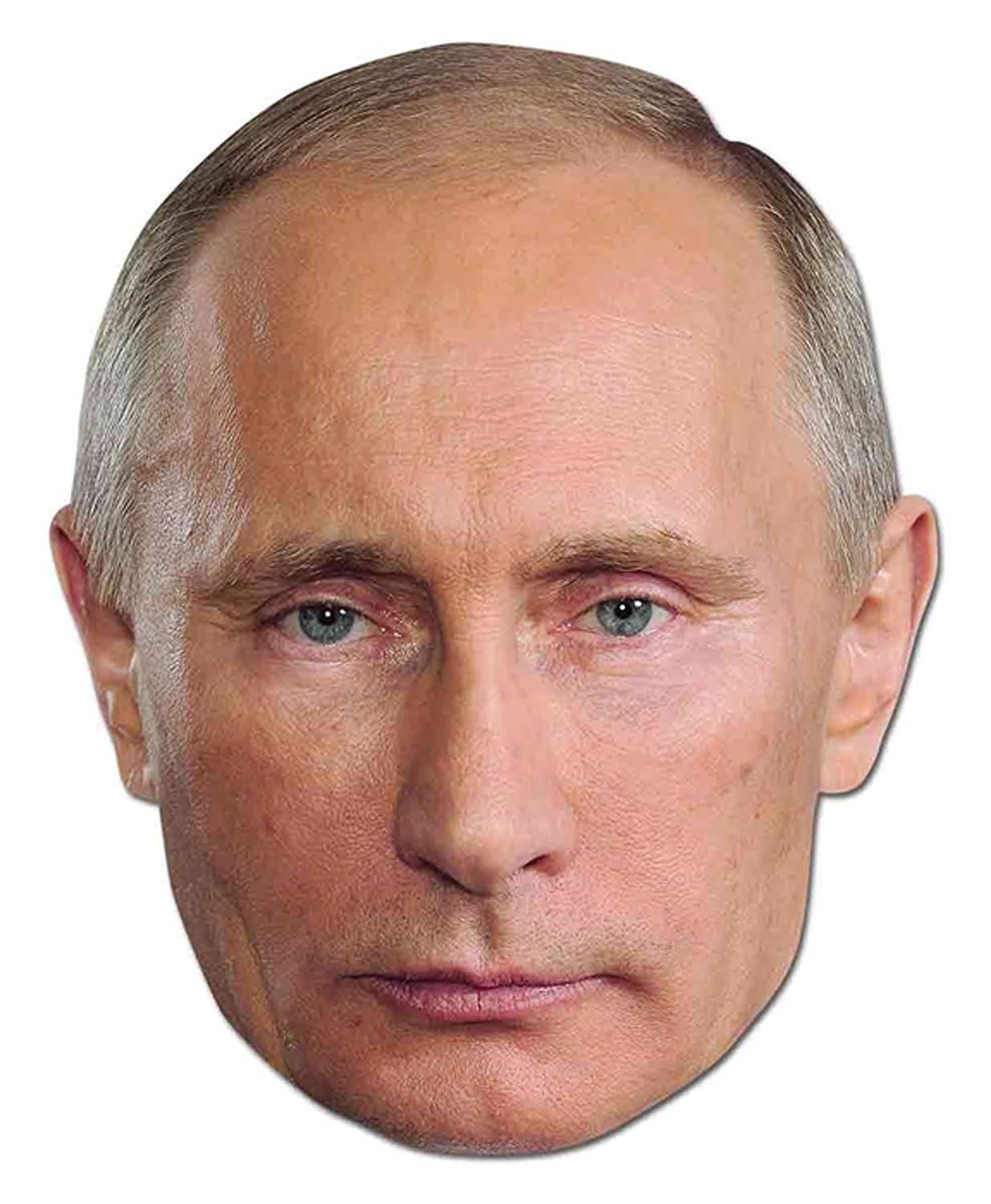 empireposter Vladimir Putin - Papp Maske hochwertiger Glanzkarton mit Augenlöchern