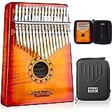 GECKO Kalimba 17 Key Thumb Piano with Hardshell...