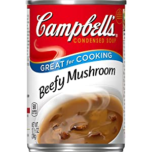 Campbell's Condensed Beefy Mushroom Soup, 10.5 Ounce each, Pack of 12