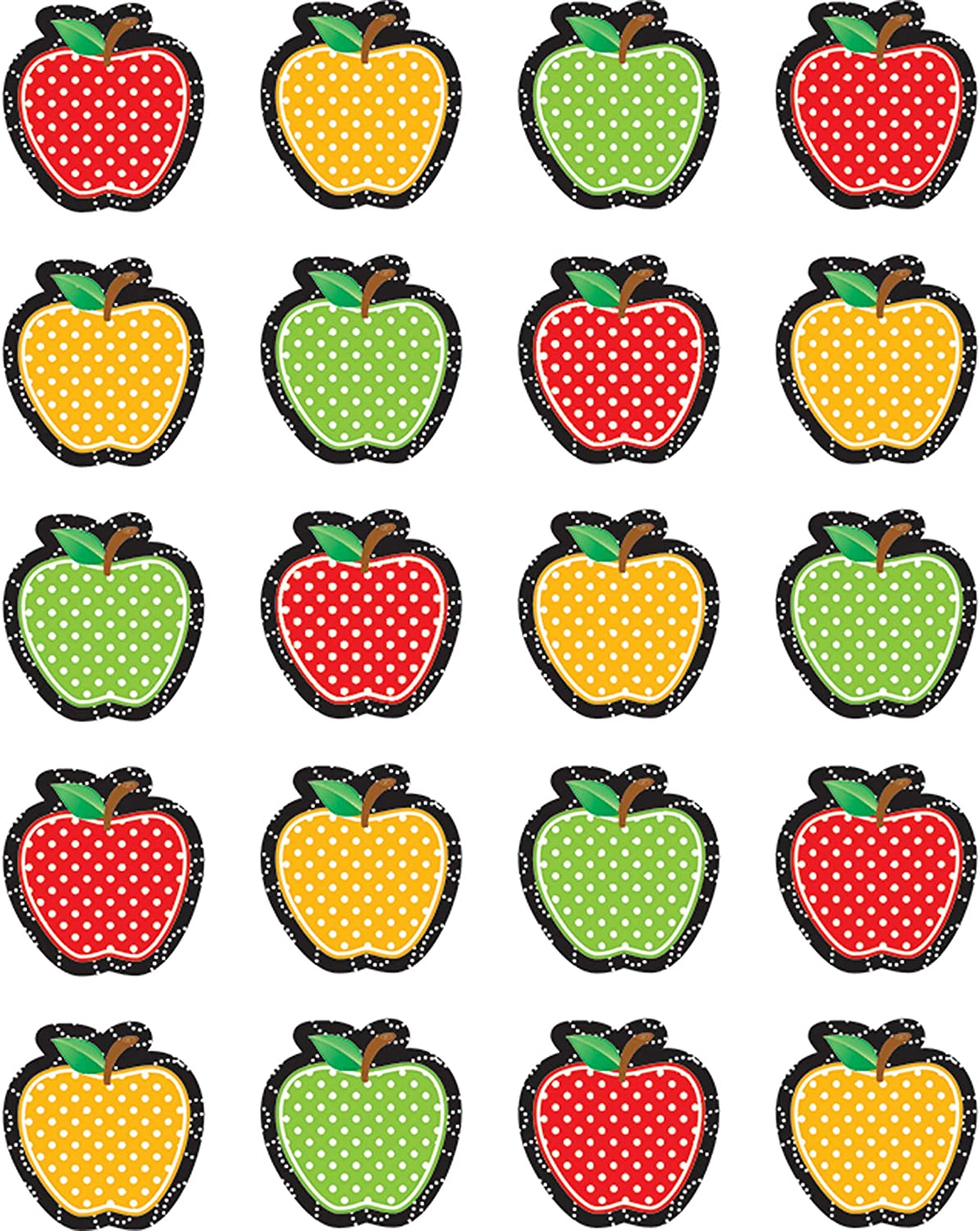 Teacher Created Resources Dotty Apples Stickers, 5912