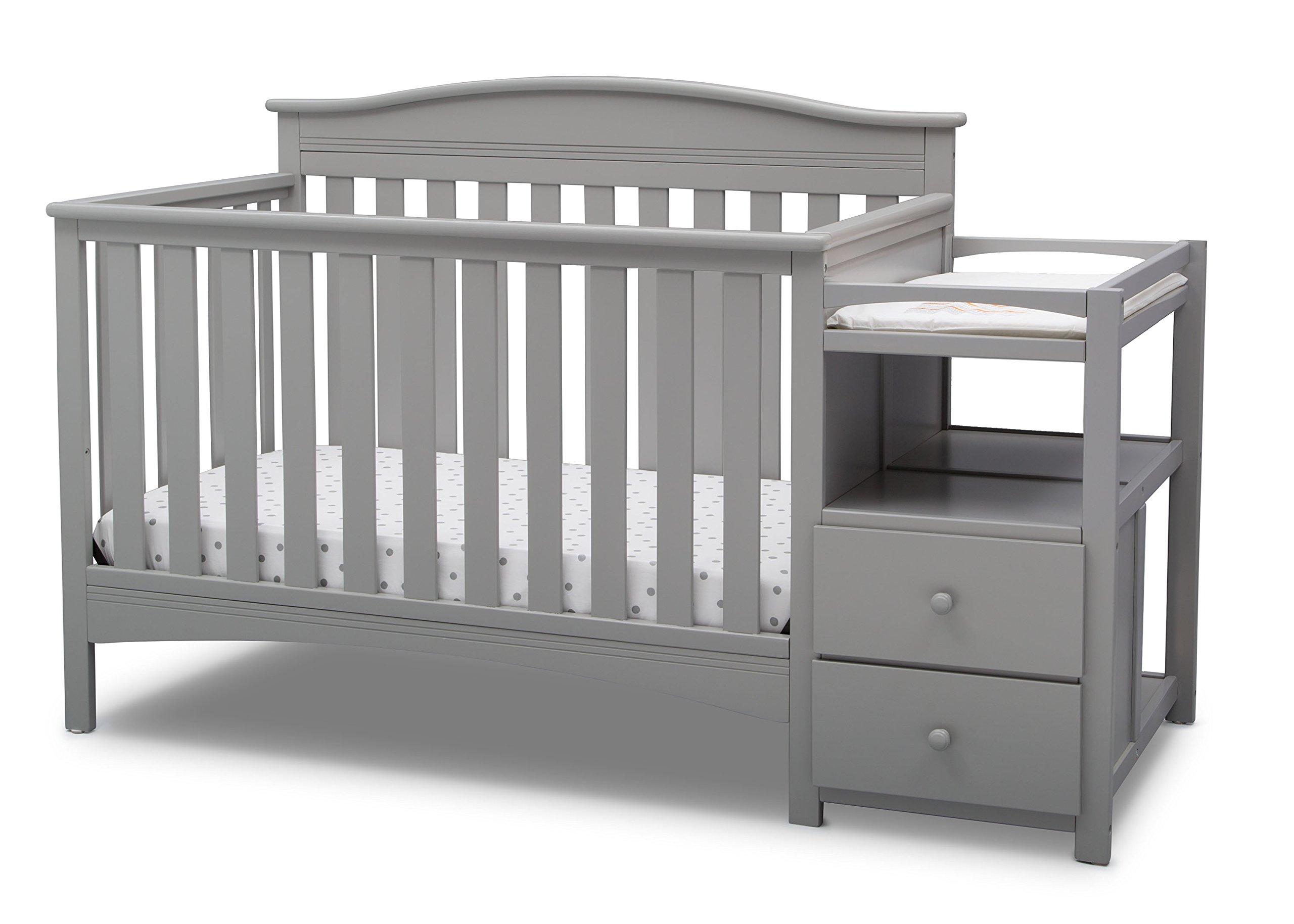 Delta Children Birkley Convertible Crib and Changer, Grey by Delta Children