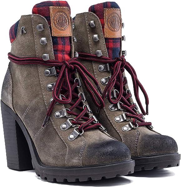 3795930dee1 REPLAY Women s Moore High Heel Suede Boots Beige in Size UK 6 ...