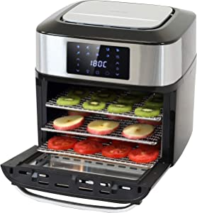 PartyHut XL 18 Liter/19 Quarts   Air Fryer Dehydrator Rotisserie Toaster Oven   10 in 1 Multi Function   ETL Certified   9 Cooking Accessories