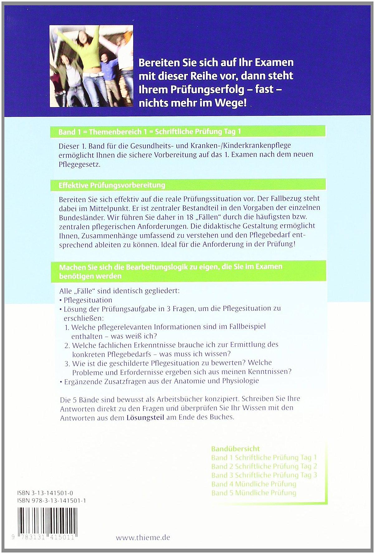 Schriftliche Prüfung Tag 1 Examen Pflege: Amazon.de: Renate Fischer ...