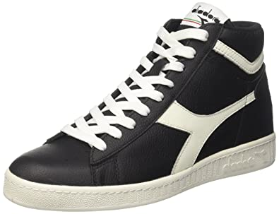 Diadora Game L Low Waxed, Sneakers Basses Homme, Noir (Nero/Bianco), 36.5 EU
