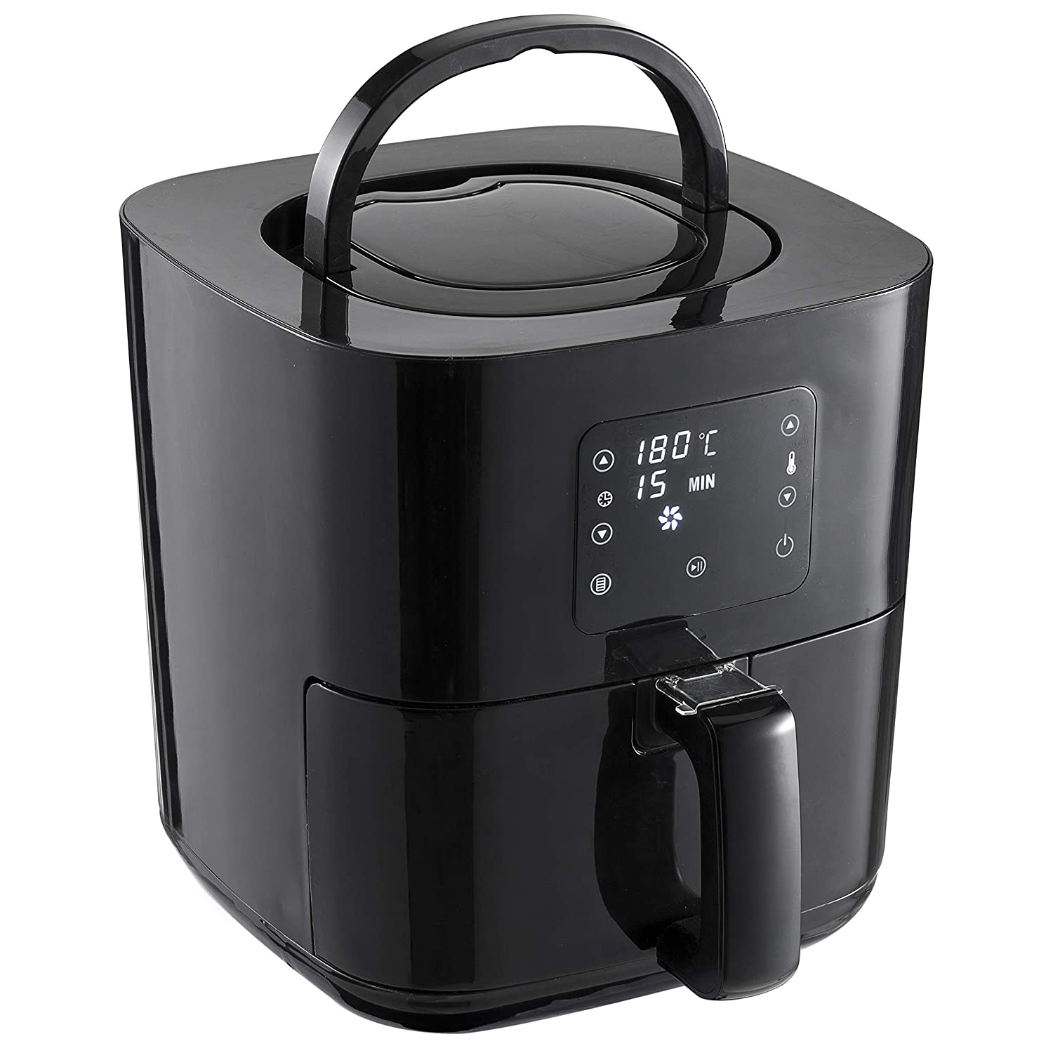 Nattork Air Fryer 3.7 QT Programmable Digital TouchScreen 6-in-1 Smart Techonlogy Electric Air Fryer, Timer and Temperature Control, with Recipes For Fast & Healthier Oil Free Cooking