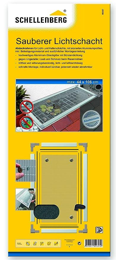 Schellenberg 50357 - Tela de protección y marco para un tragaluz limpio, juego completo (