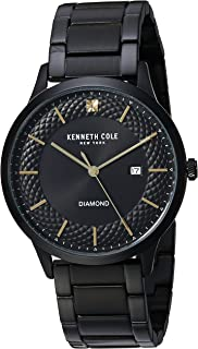 Kenneth Cole New York Mens Quartz Stainless Steel and Leather Casual Watch