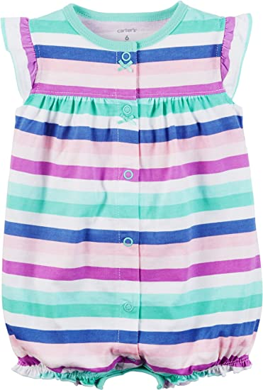 1e9f04027 Amazon.com: Carter's Baby Girls' Striped Butterfly Snap Up Romper: Baby
