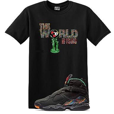 6b0222e9e1a88f We Will Fit World Shirt Jordan Retro 8 Tinker AIR RAID Concord Aloe (Small)