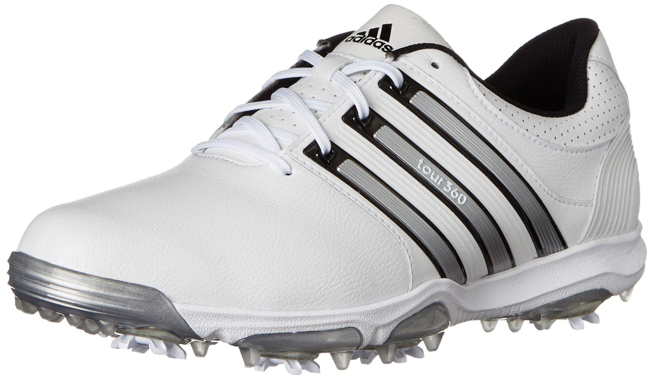 adidas Men's Tour 360 X, Running White/Black/Silver Metallic, 9 M US