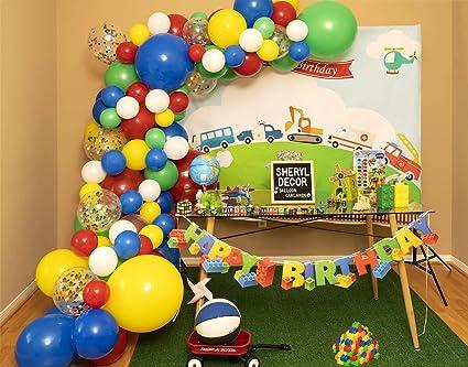 115 Piezas 3 Tamaños Kit De Arco De Globo De Cumpleaños Para Niño Y Guirnalda De Globos Rojos Para Tema De Toy Story Mario Globos De Color Primario En