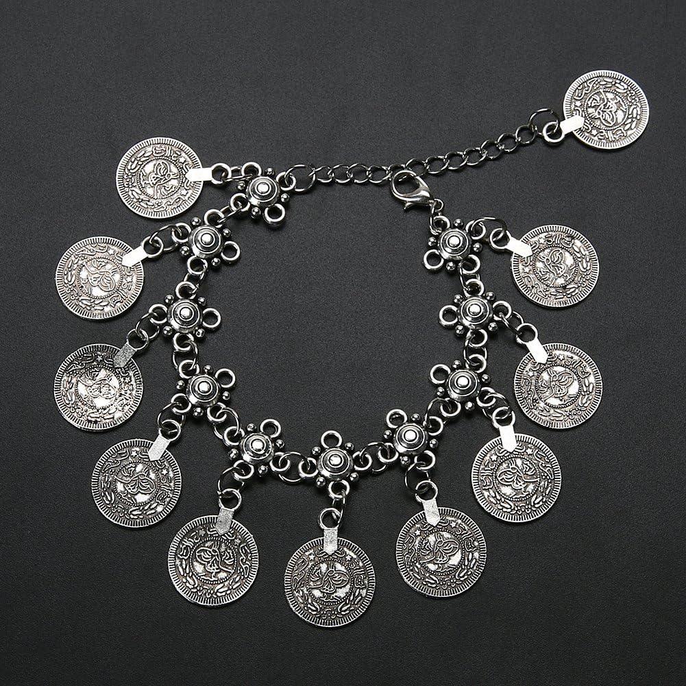 ForU-1 Barefoot Tribal Coins Tassels Anklet Bracelet Beach Foot Chain