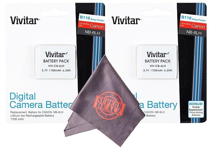 Review 2 Pack Vivitar NB-6L