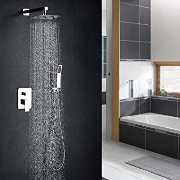 hm Colonna doccia,12 Pollici Sistema di Doccia Multifunzione, Modalità  Pioggia, 304 Acciaio Inossidabile, Set Doccia,Kit da doccia a combinazione  ...