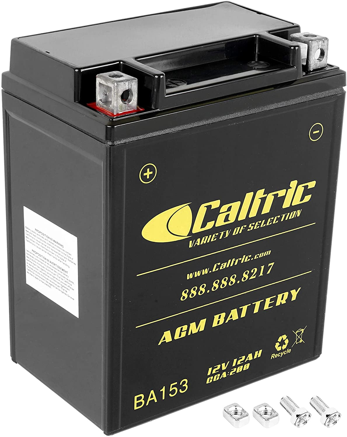 Caltric compatible with Agm Battery Yamaha Grizzly 350 Yfm350 Yfm-350 4Wd Irs Hunter 2007-2011