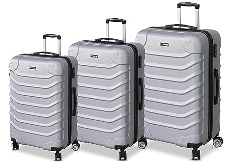 8d3c89c27e ORMI Set 3 Trolley Con 8 RUOTE Autonome in ABS Rigido Con Bagaglio a Mano  Mod