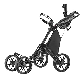 CaddyTek One-Click Folding 4 Wheel Version 3 Golf Push Cart